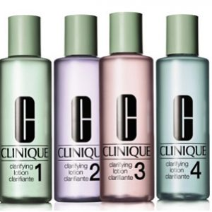 Clinique Clarifying Lotion kasvovesi 1,2,3 ja 4